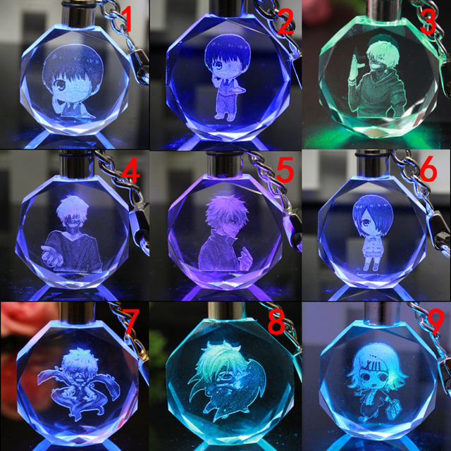 Tokyo Ghoul Led Crystal Key Chain