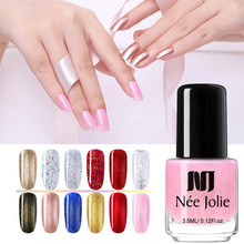 NEE JOLIE Glitter Nail Polish Glimmer Shiny Sequins Lacquer Varnish Pure Color Manicure Art DIY Design
