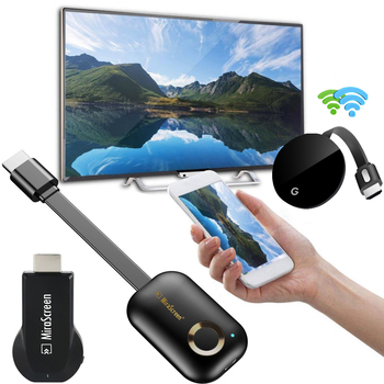 2.4G 5G Miracast Android TV Dongle Mirascreen HDMI Stick Wireless WiFi Display Receiver 1080P HD Airplay Media Streamer Adapter