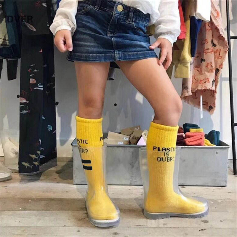 Bobo Choses Kids Rain Boot Boys Girls Transparent Rain Shoes Bobo Choses brand Girls Shoes Beautiful Kids Boots bobo choses юбка bobo choses модель 281253496
