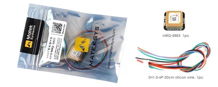 M8 Mateks GPS M8Q-5883 Module FPS Module de positionnement Tracker avec boussole pour FPV RC aile fixe course longue portée
