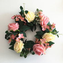 Klonca Natural Luxury Silk Flower 36*18cm 1pc Wreath Artificial Wedding Decoration Living Room Door Hanging