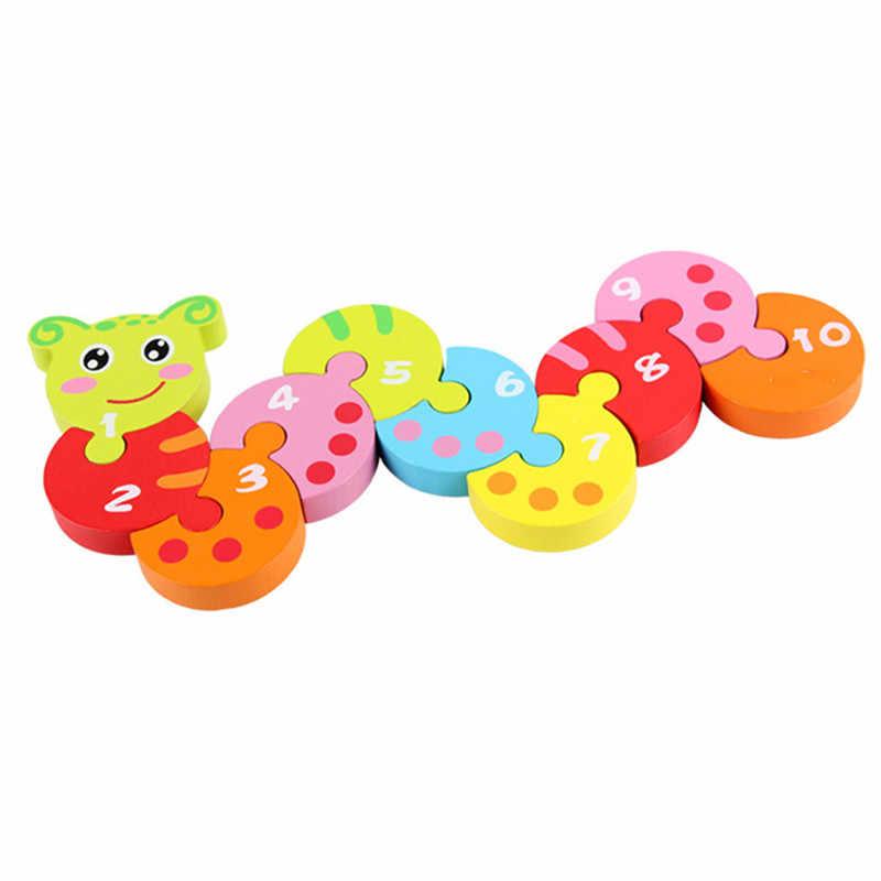 Новые детские игрушки гусеница блоки разноцветный цифровой познавательный ребенок Обучающие животные строительные блоки подарок на день рождения