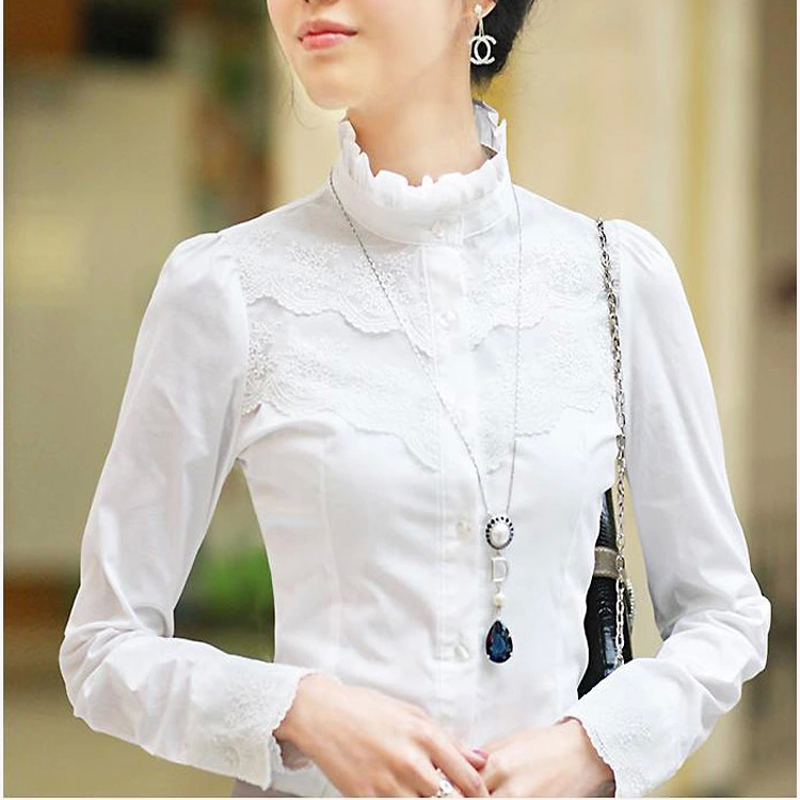 Ladies White Lace Blouse 58