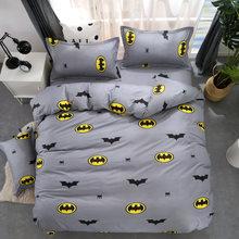 Cartoon Stripe Batman Bedding Sets Bedclothes For Kids Bed Linen Duvet  Cover Bed Sheet Pillowcase Twin