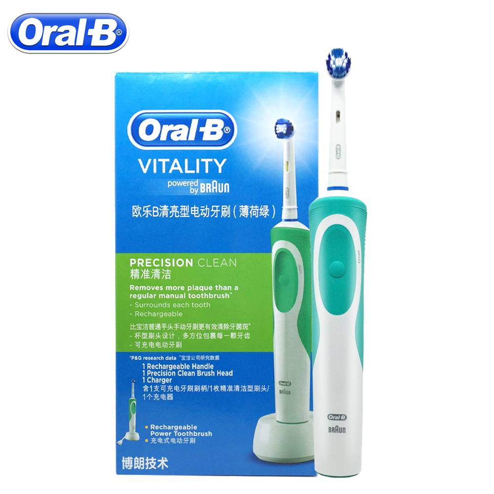 Oral B Vitality D12 Sonic Electric Toothbrush Rotating Rechargeable Precision Clean Teeth Brush Imported From German Brush Teeth image