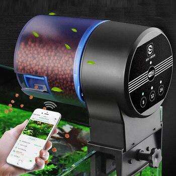 Sunsun WIFI Programmable Aquarium Automatic Fish Feeder Auto Fish Food Dispenser for Fish Tank Electronic Timer Feeder 3 Meals