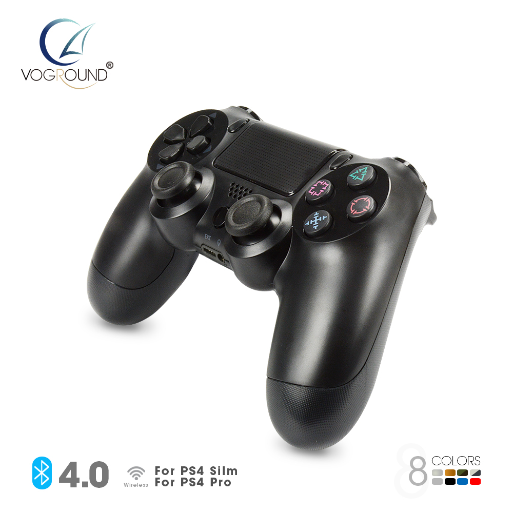 VOGROUND For Sony PS4 Pro Wireless Gamepad Bluetooth Joystick For PlayStation 4 Controle Game Controller 1pcs black wireless game gaming bluetooth chatpad message keyboard for sony for playstation 4 for ps4 controller with usb cable