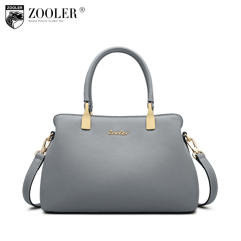 ZOOLER 2018 genuine leather bag bags handbags women famous brands luxury woman bag shoulder bags designed bolsos #T502 zooler hot bags handbags women famous brands 2018 genuine leather woman bag shoulder bags cowhide tote luxury high quality 110