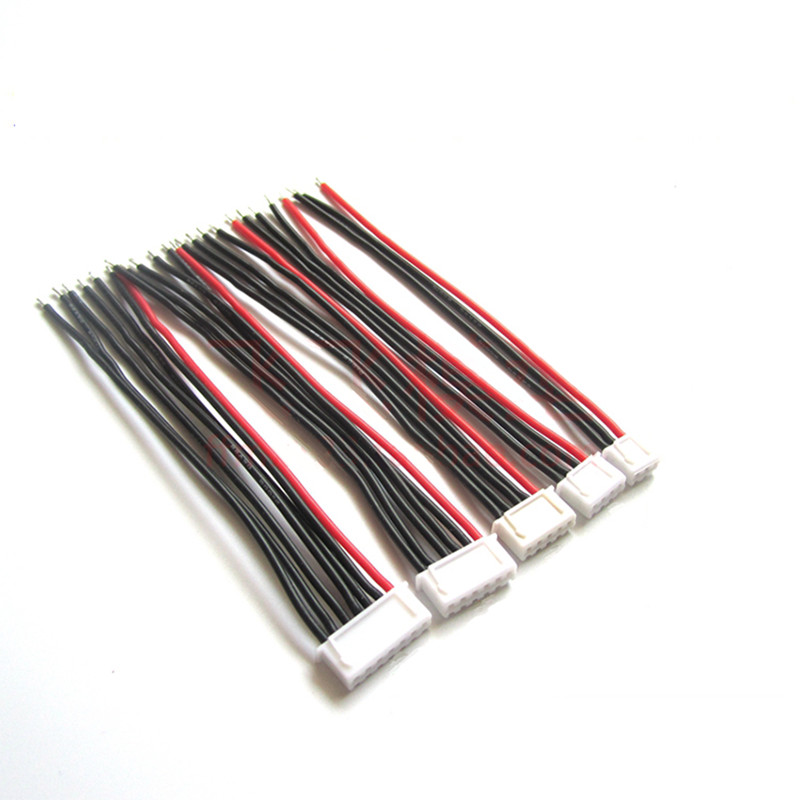 5Pcs / Lot 2s 3s 4s 5s 6s LiPo Battery Balance Charger Plug Line/Wire/Connector 22AWG 100mm JST-XH Balancer Cable Good Quality