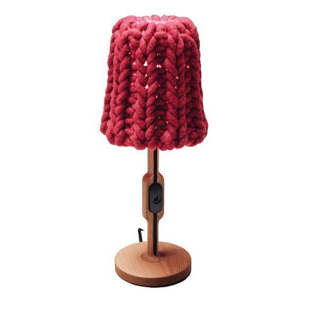 Классическое искусство Творческий настольные лампы гостиная спальня исследование кровать желтый красный модные шерстяные теплые декорат...
