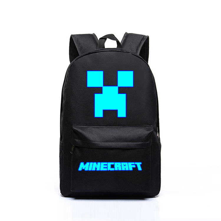 2019 Minecraft Backpacks Canvas High Quality Backpack Children School Boys And Girls Back To School Glowing Bags(China)