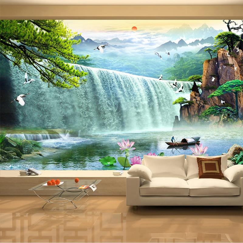 Papel de parede 3d paisagem waterfalls nature scenery for Home wallpaper company