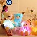Плюшевые светящиеся светящиеся светодиодные плюшевые подушки плюшевые мишка свет плюшевые игрушки