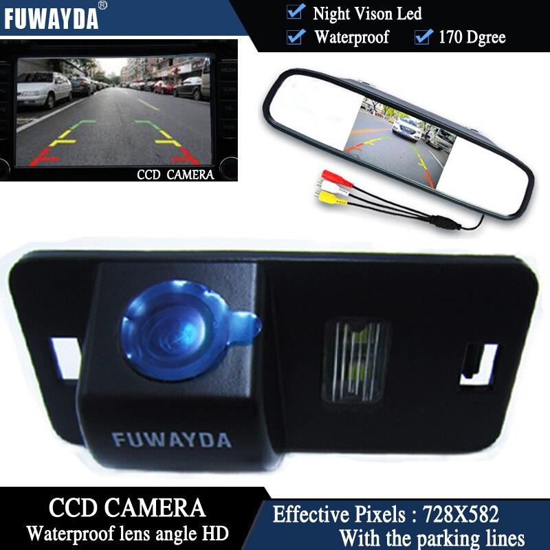 FUWAYDA 4,3 авто зеркало заднего вида монитор парковки + видения автомобиля обратный CCD камера для BMW 1357 серии X3 X5 X6 Z4 E39 E53 E46