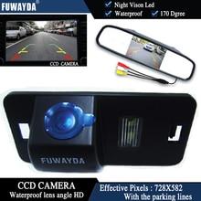 FUWAYDA 4.3″ Auto Car Rear View Mirror Monitor Parking+Vision Car Reverse CCD Camera for BMW 1357 series X3 X5 X6 Z4 E39 E53 E46