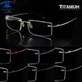 Небо и море оптическая память титановые очки кадр мужчин оправы оправы óculos де грау мужские женщины прозрачные линзы очки