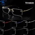 SKY&SEA OPTICAL Memory Titanium Glasses Frame Men Rimless Eyewear Frames oculos de grau Mens Women Clear Lens Glasses