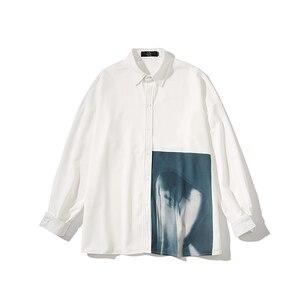 Image 5 - 2019 koreański styl mężczyźni Ulzzang świeże Temperament młodzieży Indie wyskakuje luźna koszula na co dzień