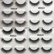 SHIDISHANGPIN 3 pairs 3d mink lashes natural long eyelashes handmade 1 box false cilios for makeup beauty