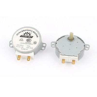 2PCS Microwave Oven CW/CCW Synchronous Motor 4W 4RPM AC 220/240V