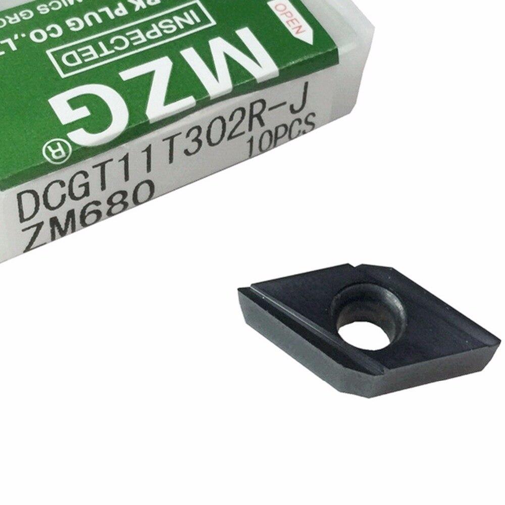 MZG DCGT11T301 DCGT11T302 R J ZM680 CNC 切断ボーリング工具ホルダステンレス鋼処理刃先交換式超硬インサート  グループ上の ツール からの ターニングツール の中 1