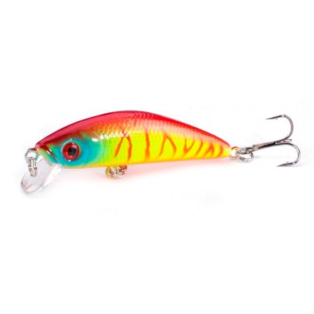 1PCS  Fishing Lure Minnow Crankbait Hard Bait Tight Wobble Slow sinking Jerkbait Fishing Tackle 5