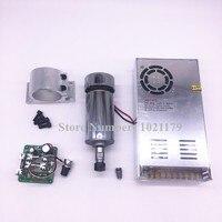 400 W CNC broche kit DC12-48V ER11 400 W air refroidir la broche moteur + DC48V interrupteur d'alimentation + ER11 collet chuck + vitesse du moteur contrôleur