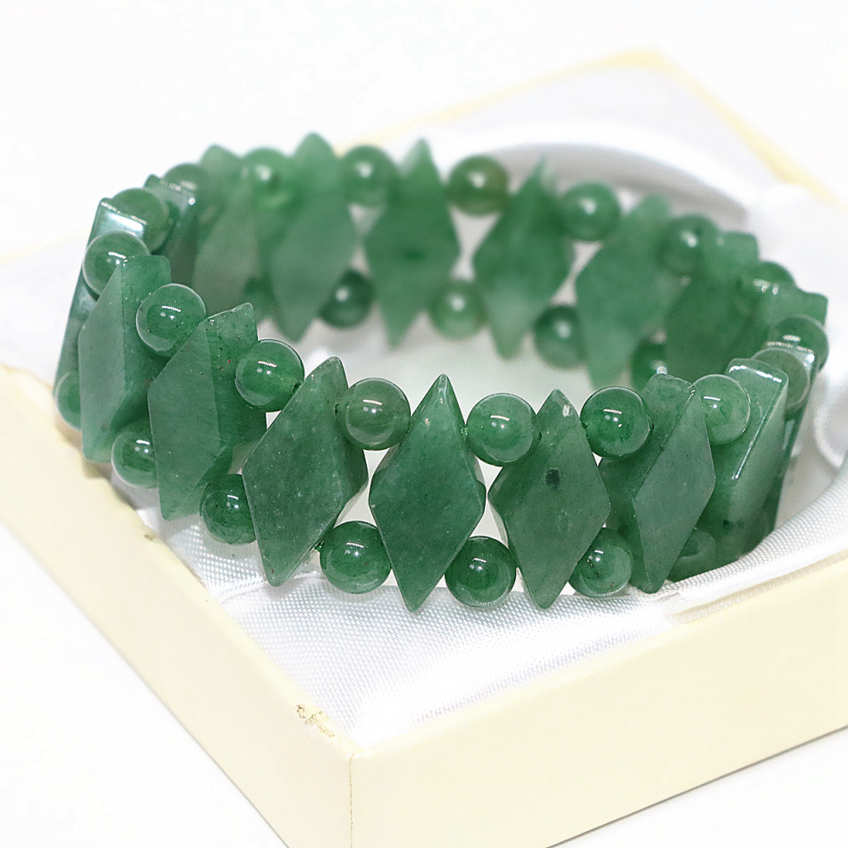 New design natural green chalcedony jades bracelet horse eyes 10*22mm round beads 6mm women elegant jewels 7.5inch B1699
