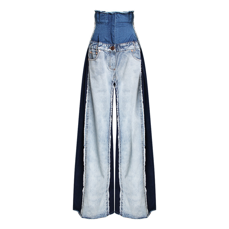 Most popular Denim fabric Women's wide leg pants
