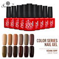 Saviland 1pcs Coffee Chocolate Series Nail Gel Varnish  Soak Off Semi Permanent Brown Series UV Nail Gel Polish