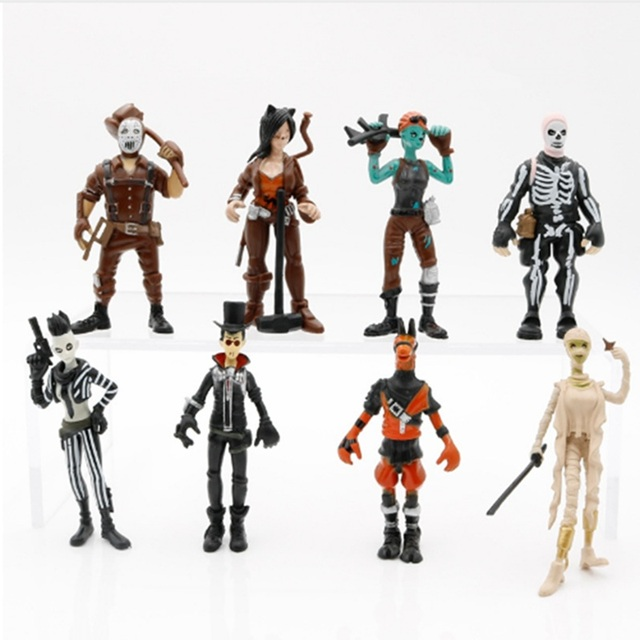 8pcs/set Fortnight Action Figure Toy 8-11.5cm Fortnight game Character PVC Action Figures Dolls Model Toy For children Gift