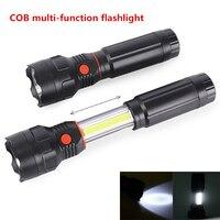 4 PCS Multi-função lanterna liga de Alumínio COB 3 W Luz de trabalho luz Da Cauda ímã Telescópica lanterna