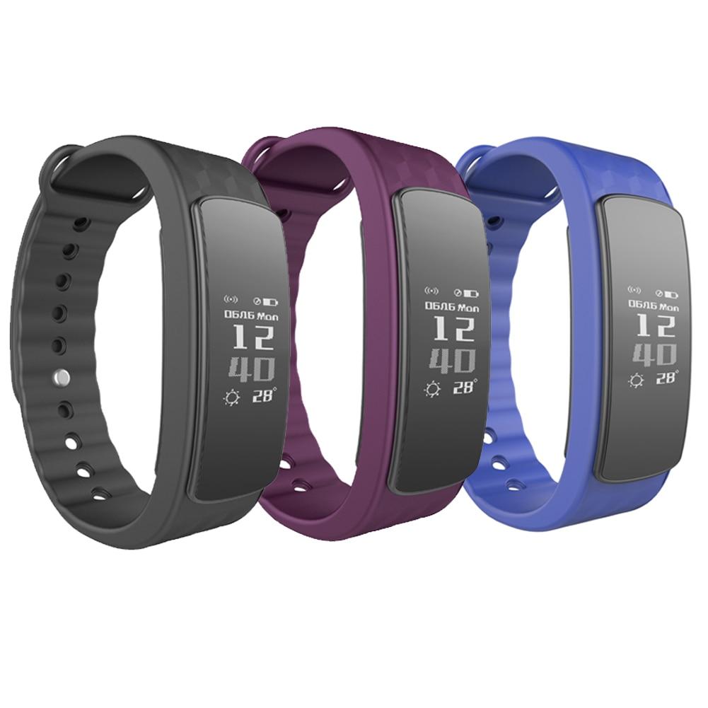 imágenes para Nueva Prueba de Agua IP67 Reloj Inteligente Relojes I3Hr Con Heart Rate Monitor Podómetro Inteligente Pulsera Pulsera con Pantalla Táctil