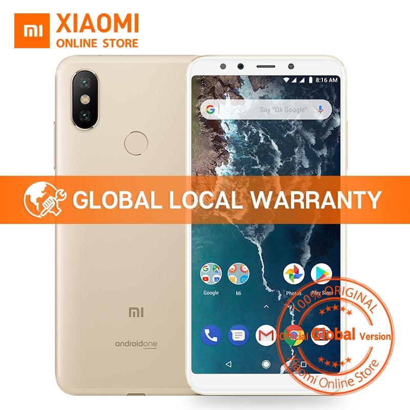 Versión Global Xiaomi mi A2 4 GB 64 GB 5,99 pulgadas 18:9 Pantalla Completa Snapdragon 660 AIE AI Cámara Dual android 3010 mAh Smartphone