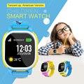 Tencent qq edição americana crianças smart watch relógio gps crianças smartwatch inteligente Relógio Bebê Cam SIM LBS SOS para Android IOS Wi-fi