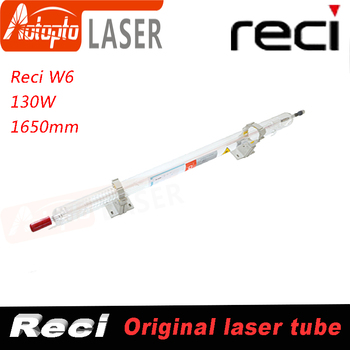 Co2 130W 150W 150 Watt Reci Glass W6 Laser Tubes Tube For Co2 Laser Cutting Engraving Machine Dia 80mm Length 1650mm S6 V6 Z6 efr f2 80w co2 glass laser tube 80mm diameter 1250mm length for co2 laser engraving machine