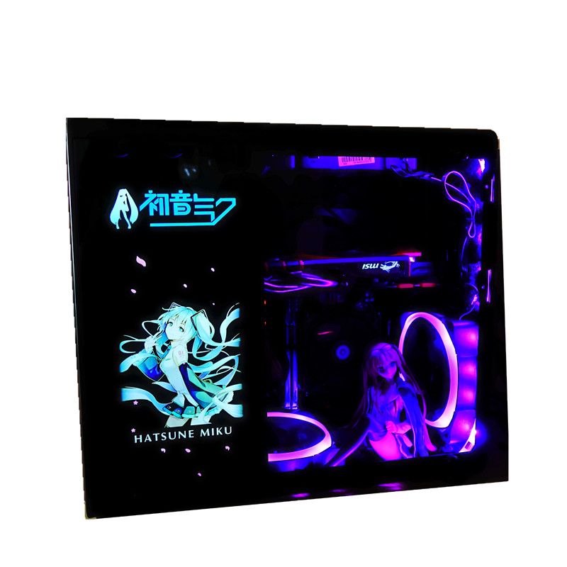 Image 3 - Customized PC Case Side Panel GPU Backplane RGB Faith Light  Colorful /RGB /D RGB AURA Streamer Backplate For Case/Graphics Card-in Fans & Cooling from Computer & Office