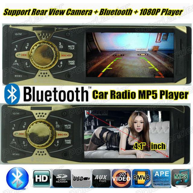 Apoio Câmera de visão Traseira nova 4 polegada TFT Do Carro Da Tela HD Mp5 Áudio SD/USB rádio Do Carro MP3 Player MP4 Áudio do carro do Bluetooth vídeo
