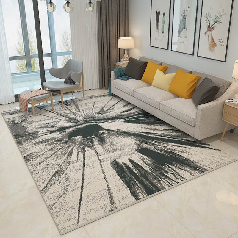 Retro Middle Eastern Ink Abstract Art Carpet Living room coffee table bedroom sofa rug Modern hotel home Machine wash customize