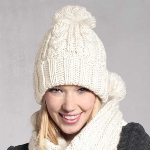 2016ファッション冬のウールの帽子スカーフかわいいニットかぎ針編みビーニーキャップ帽子女性暖かいスカーフと帽子ツイストニット帽子