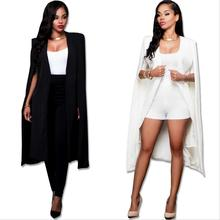 Explosions fall new personality pure color fashion long cloak European and American women suit jacket