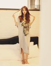 Free Shipping2016 New  summer style Nightgown Nightdress pijama Ladies Sleepwear Women nightwear AZ670