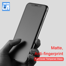 No Fingerprint Full Cover Matte Tempered Glass for iPhone X 8 7 6S Plus Screen