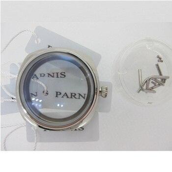 Корпус для часов UNITAS ETA 6497 6498 ST3600 3620, 45 мм, полированный, квадратный, из нержавеющей стали