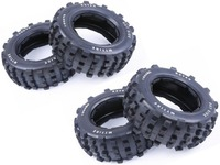 Heightening and thickening nails Strong grip and strong wear resistance off-road tires for HPI KM ROVAN BAJA 5T 5SC LOSI 5IVE-T