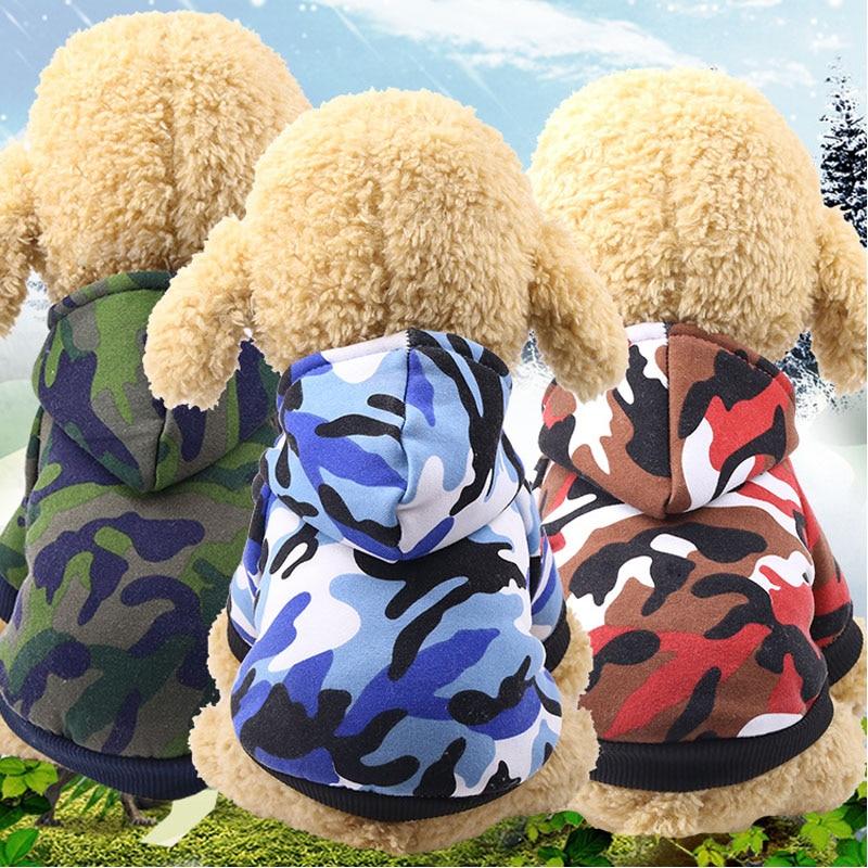 Dog Sweatshirt Clothes For Spitz Chihuahua Pugs Hoodie Military Dog Cat Hoodie Hood Clothing Sweatshirt Puppy Clothes Dog XS-XXL