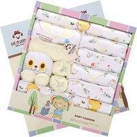 Thicken Warm 100% Cotton 21 pieces Baby Gift Set Autumn Winter Newborn Baby Underwear Sets Infant Clothing Set Pink Yellow Blue