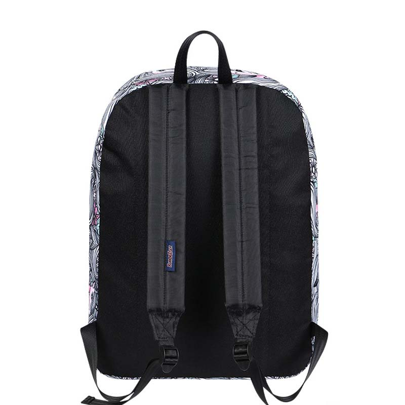 striped unicorn laptop anti theft backpack feminina backpack Women school Bag teenagers man computer Backpack in Backpacks from Luggage Bags