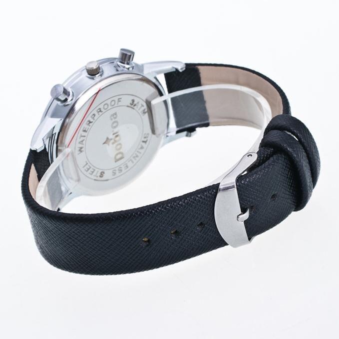 Vogue Men's Waterproof Calendar Luminous Watch Leisure Time Faux Leather Wrist Watches Male Business Clock relogio feminino A75